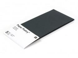 5 Bögen Seidenpapier - schwarz