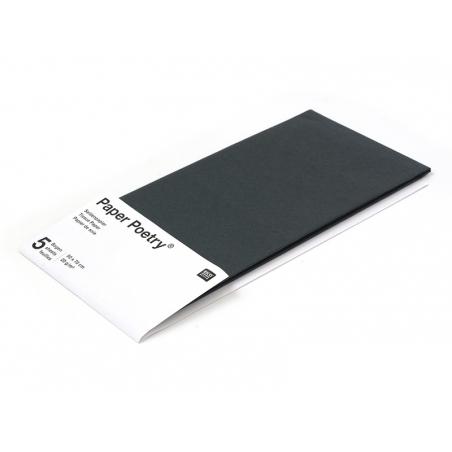5 feuilles de papier de soie - noir
