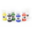 Set de 6 flacons de peintures pour tissus - couleurs primaires