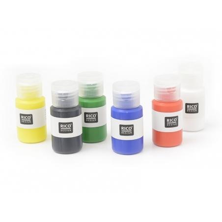 Acheter Set de 6 flacons de peintures pour tissus - couleurs primaires - 16,90€ en ligne sur La Petite Epicerie - Loisirs cr...