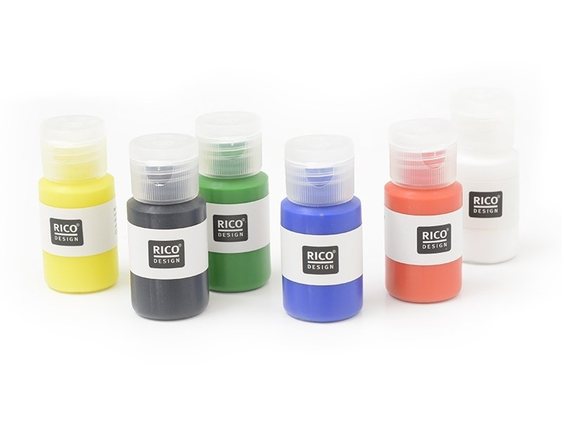 Fabric paint set with 6 bottles - primary colours
