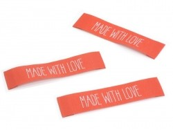 3 woven labels - Made with love