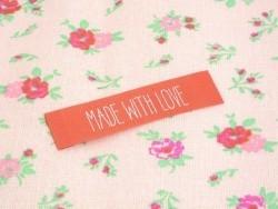 3 étiquettes tissées - MADE WITH LOVE