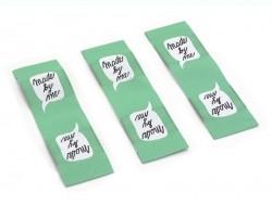 3 Webetiketten - Made by me - grün