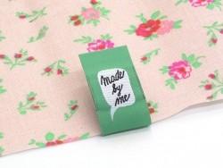 3 étiquettes tissées - MADE BY ME vert