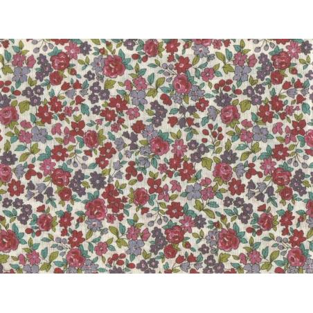 Coupon tissu fleuri 45x55cm 13 - Lucie