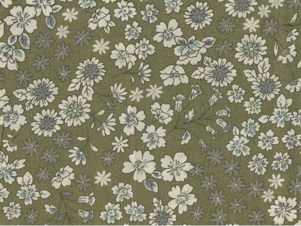 Coupon tissu fleuri 45x55cm 3 - Arthur