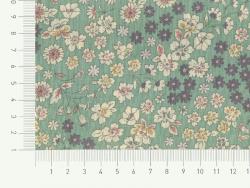 Stoffrest mit Blumenmuster (45 cm x 55 cm) Farbnr. 5 - Raphaël