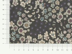 Coupon tissu fleuri 45x55cm 8 - Léo