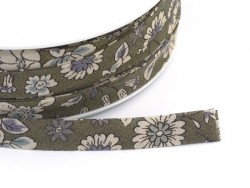 1 m of folded bias binding (9 mm) with a floral pattern - Arthur (colour no. 3)