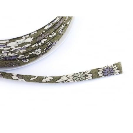 1 m of spaghetti ribbon (7 mm) - floral pattern - Arthur (3)
