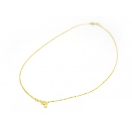 Delicate pistol necklace - gold-coloured