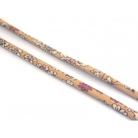 1 m of spaghetti ribbon (7 mm) - floral pattern - Marie (4)