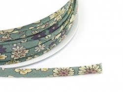 1 m of spaghetti ribbon (7 mm) - floral pattern - Raphaël (5)