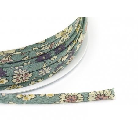 1 m of spaghetti ribbon (7 mm) - floral pattern - Raphaël (5)