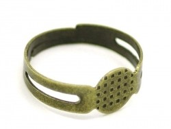 1 bronzefarbene Ringfassung