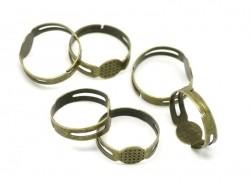 Acheter 1 support de bague couleur bronze - 1,29€ en ligne sur La Petite Epicerie - Loisirs créatifs