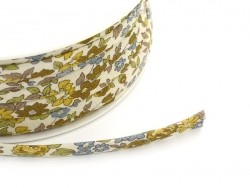 1 m of spaghetti ribbon (7 mm) - floral pattern - Margot (17)