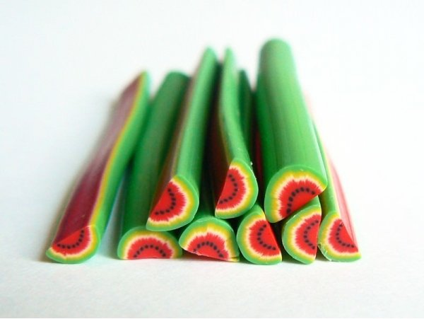 Watermelon cane - flashy watermalon slice