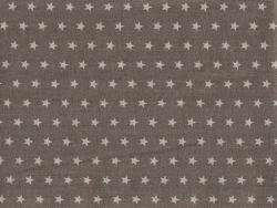 Stoff mit Sternenmuster (50 cm x 50 cm) Farbnr. 101 - Dunkelgrau