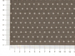 Coupon tissu étoiles 50x50 cm 101 - Gris foncé