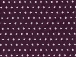 Coupon tissu étoiles 50x50 cm 106 - Aubergine