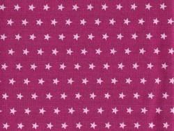 Coupon tissu étoiles 50x50 cm 107 - Fuschia