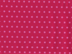 Coupon tissu étoiles 45x55 cm 108 - Rouge