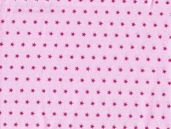 Star-printed remnant (50 cm x 50 cm) colour no. 307 - Light pink