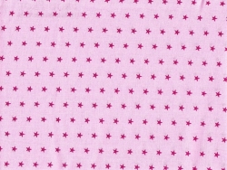 Coupon tissu étoiles 50x50 cm 307 - Rose clair