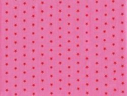 Coupon tissu étoiles 45x55 cm 308 - Rose