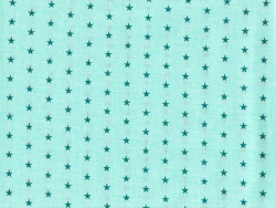Coupon tissu étoiles 50x50 cm 311 - Vert menthe