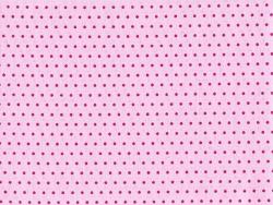Coupon tissu à pois 45x55 cm 407 - Rose clair