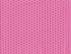 Coupon tissu à pois 45x55 cm 408 - Rose