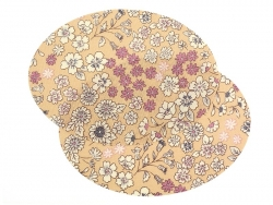2 iron-on elbow patches in a floral design - Marie (4)