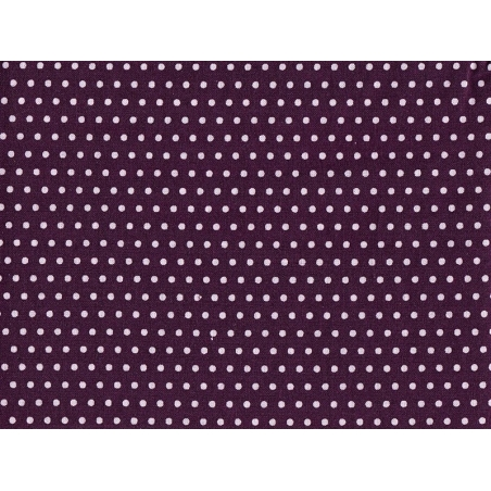 Iron-on remnant with polka dots (A 4) - aubergine-coloured