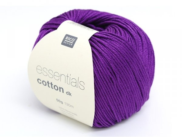 "Knitting cotton - ""Essentials"" - plum"