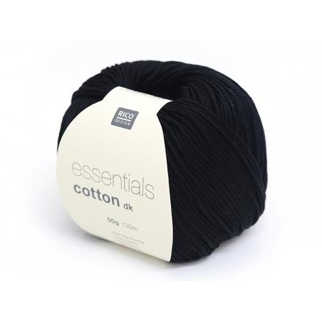 """Knitting cotton - """"Essentials"""" - black"""
