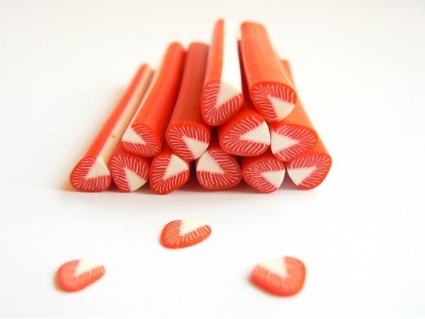 """Strawberry cane - """"Strawberry Softies"""""""