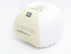 "Knitting cotton - ""Essentials"" - white"
