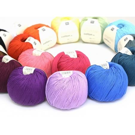 """Knitting cotton - """"Essentials"""" - white"""