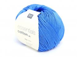 """Coton à tricoter """"Essentials"""" - bleu moyen"""