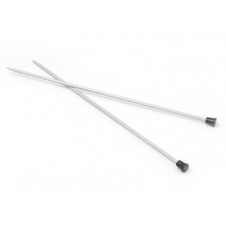 Aiguilles à tricoter en métal - 4 mm