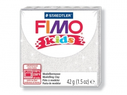 Fimo Kids - glitter colour white no. 052