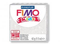 Fimo Kids - glitter weiß Nr. 052