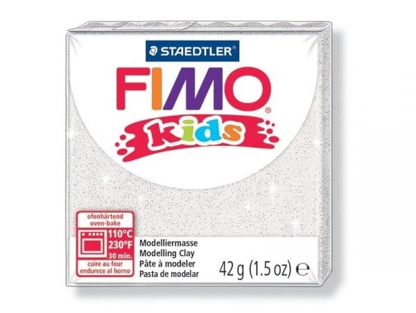 Pâte Fimo blanc pailletté 052 Kids Fimo - 1