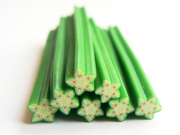 Starfruit cane - pastel-coloured
