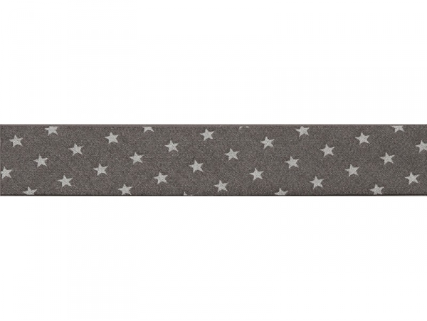 1m biais 20mm étoiles 101 - Gris foncé Frou-Frou - 1