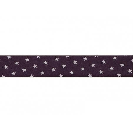 1m biais 20mm étoiles 106 - Aubergine Frou-Frou - 1