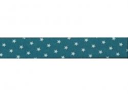 1m biais 20mm étoiles 111 - Bleu turquoise